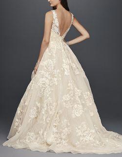 Oleg Cassini High Neck Tank Lace Wedding Dress Thumbnail