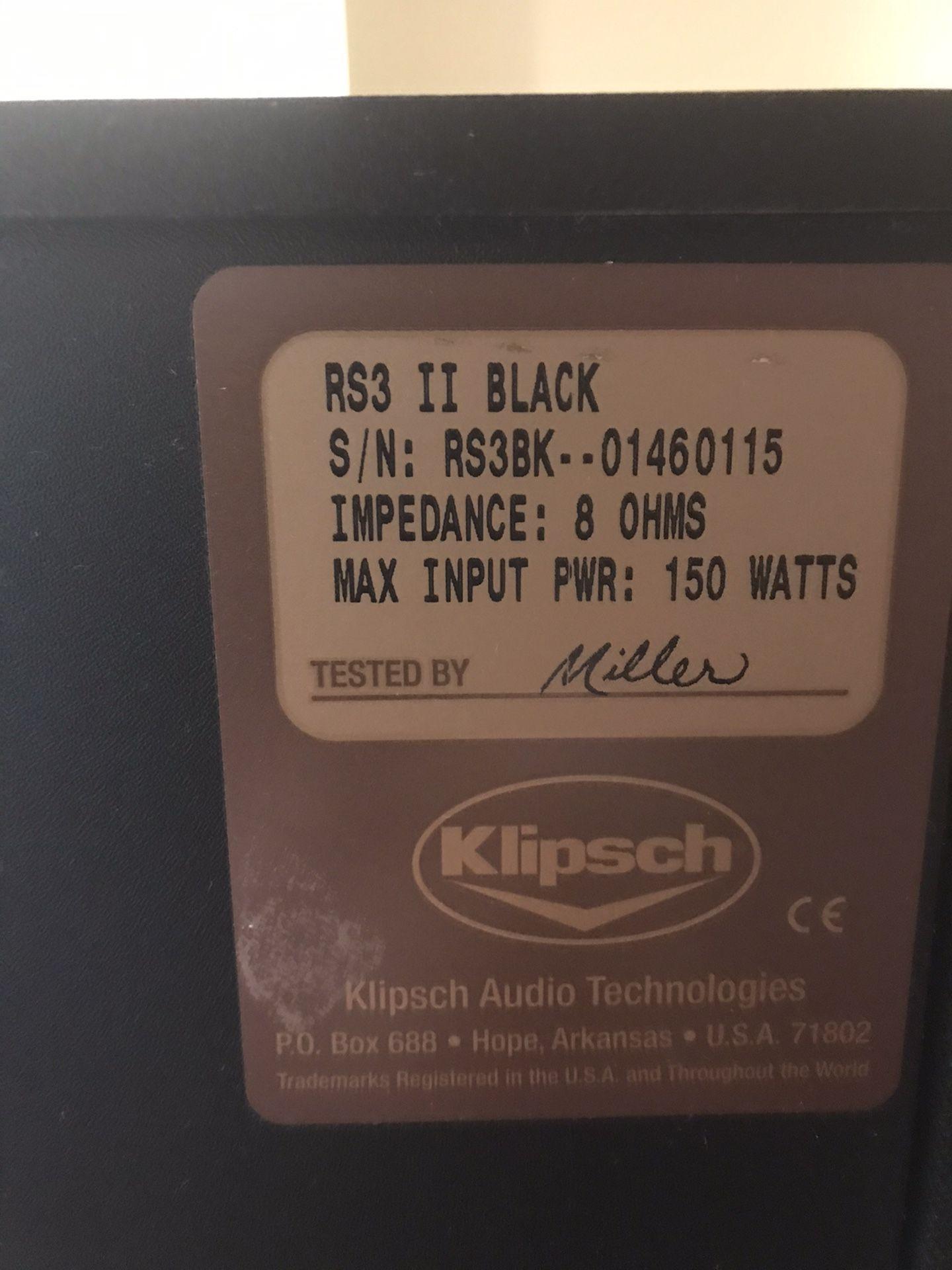 Klipsch RS-3 Black (Pair)
