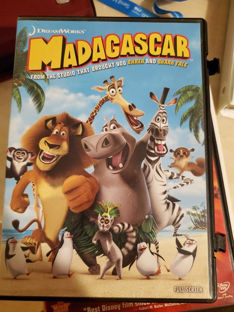 Movies on DVD: The muppets take manhattan, shrek 2, bolt, madagascar, brother bear, bambi, naruto legend of the stone of gelel