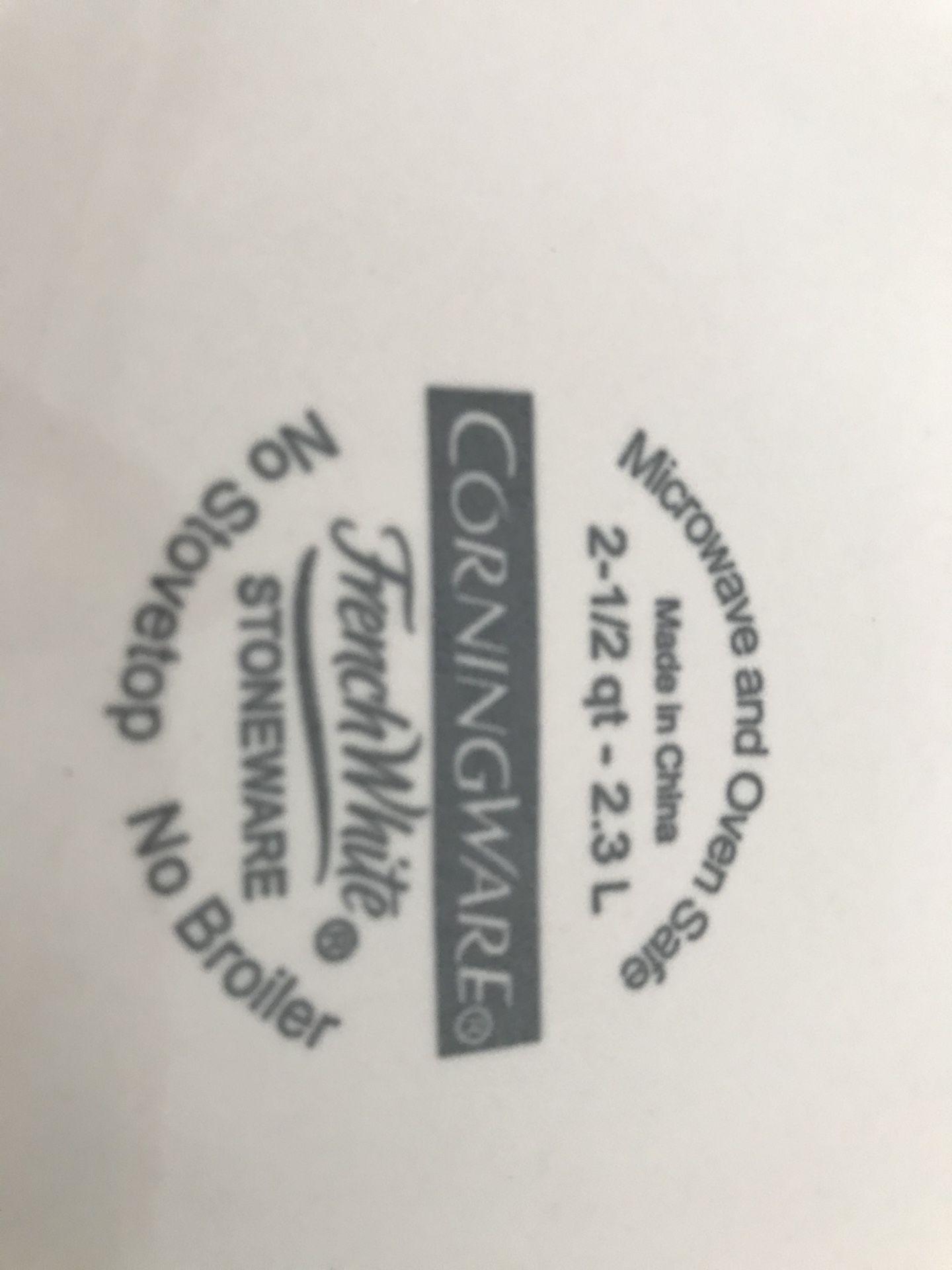 Corningware 2.5 quart
