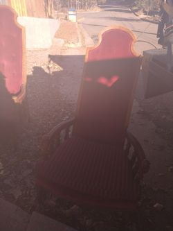Set of 2 oversized king throne chairs Thumbnail