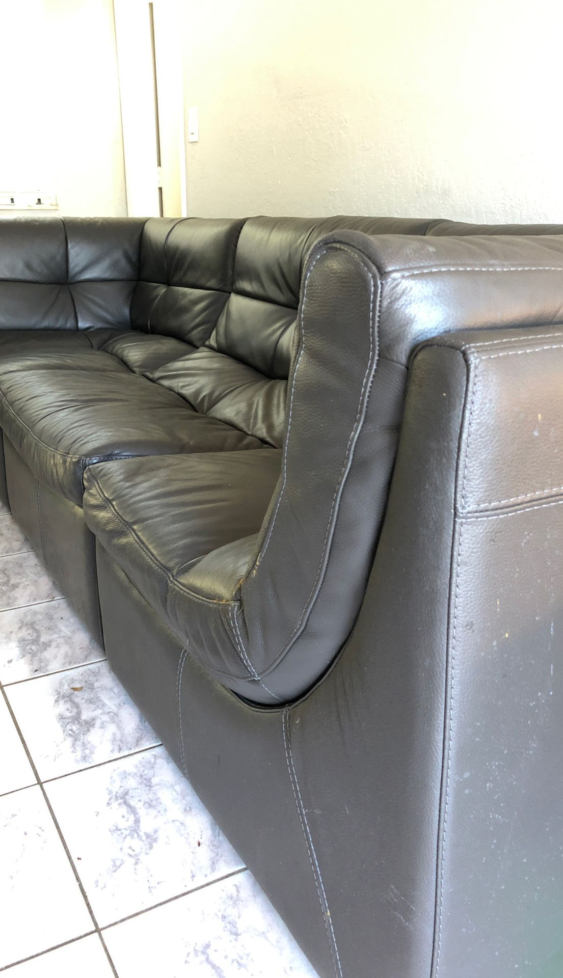 Sofa sectional z gallery grey gray leather