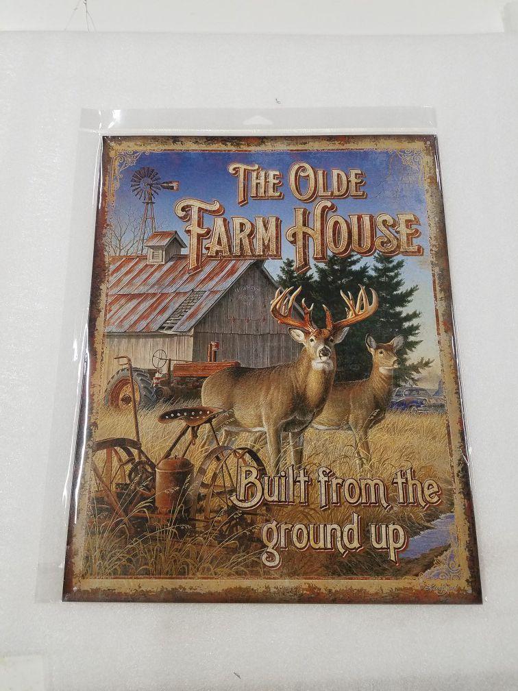 Farm house tractor barn metal sign