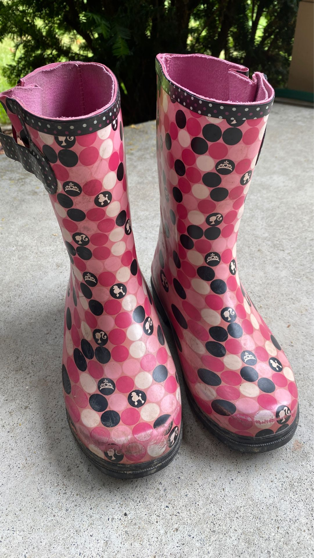 Barbie rain boots size 13/1 youth
