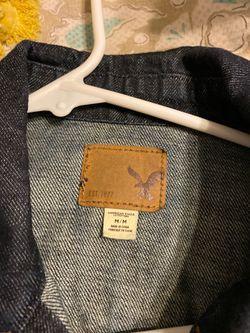 American Eagle denim dark jacket MEDIUM Thumbnail