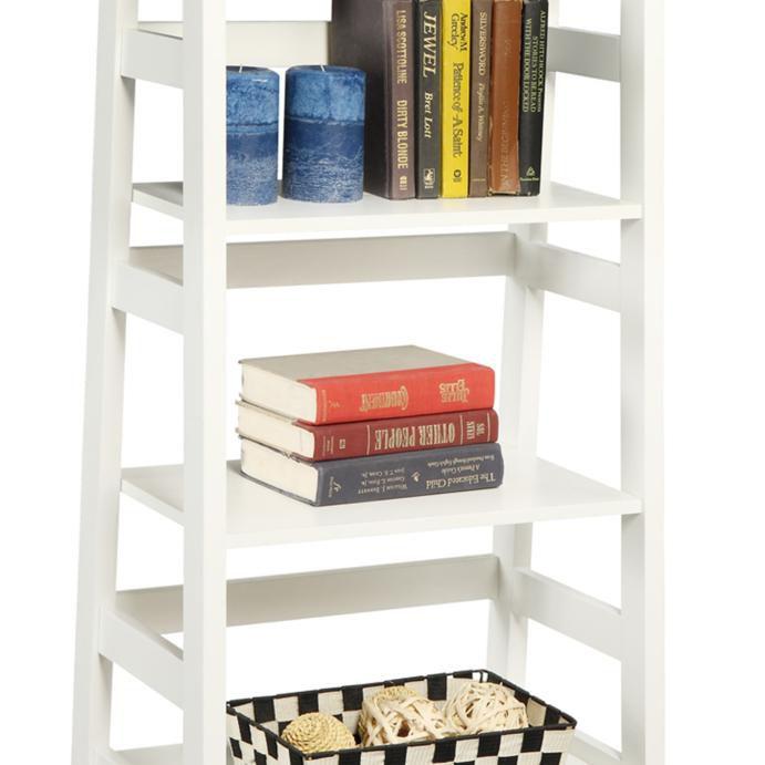 Designs2Go Trestle Bookcase, White