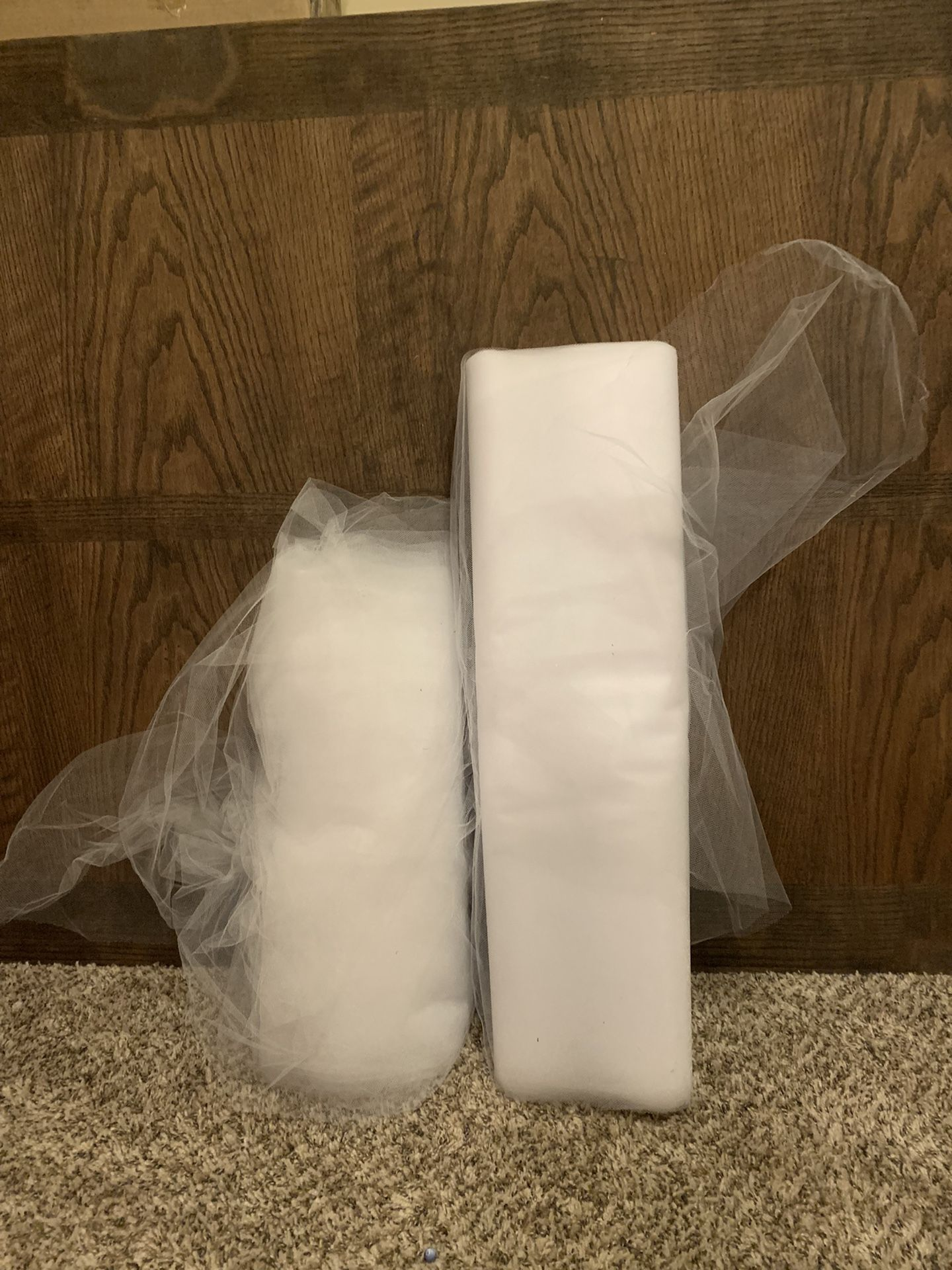 40 Yards Total Of White Tulle