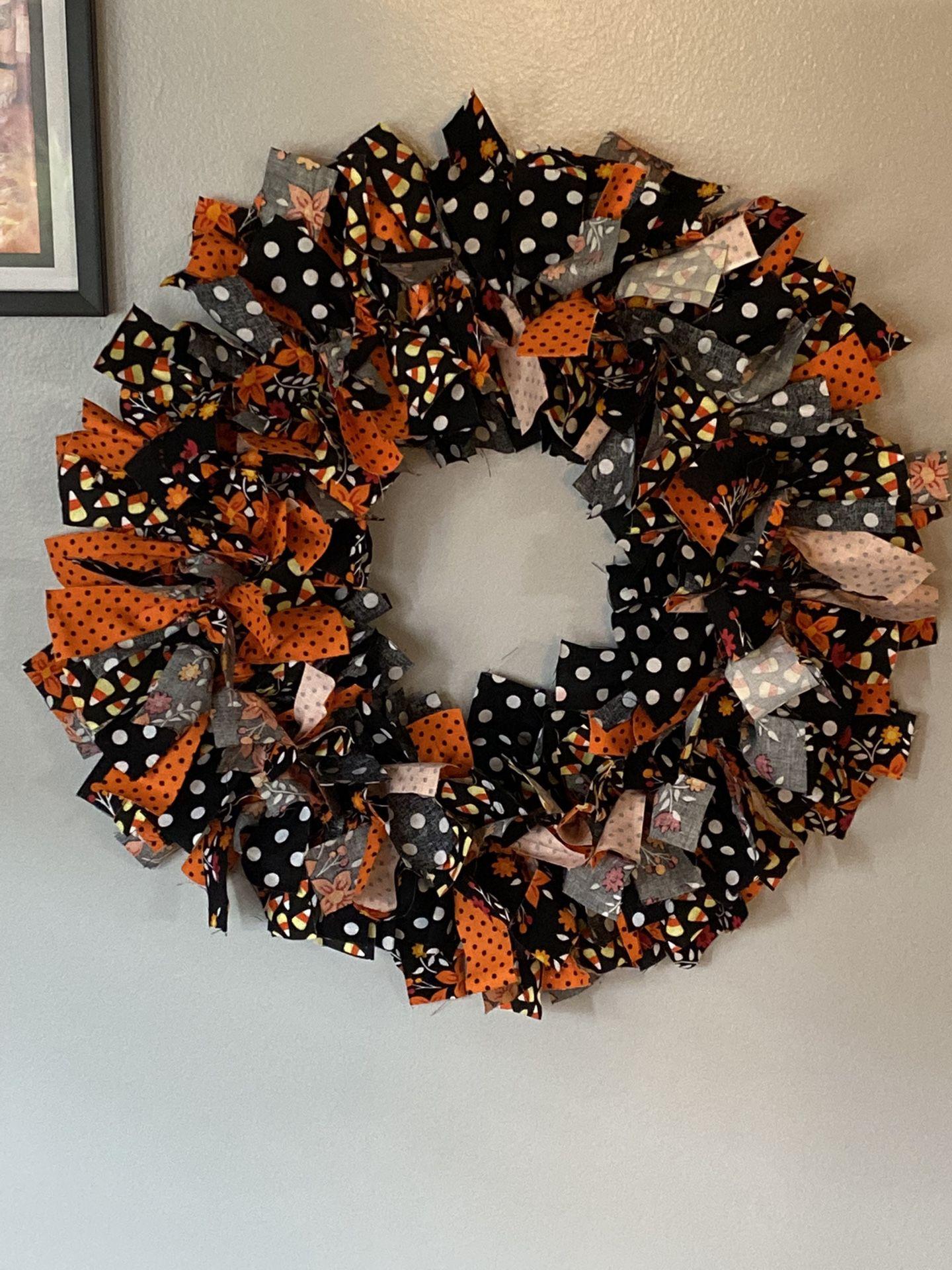 Fabric Fall Wreath