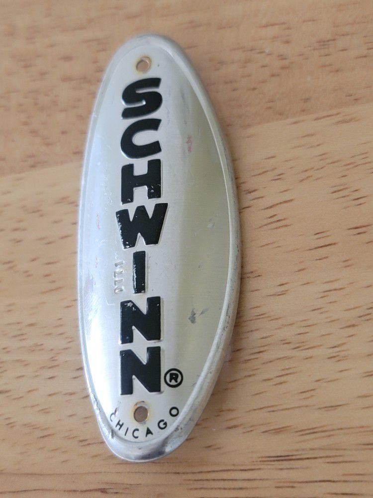 Chrome Schwinn Head Badge