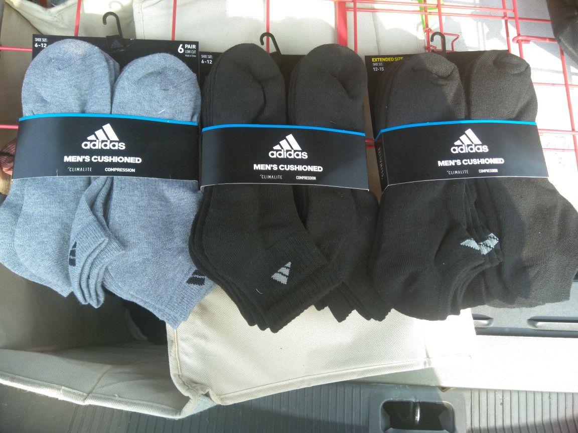 Nike and Adidas socks