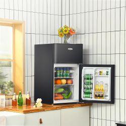 Costway 3.3 CU.FT. Compact Refrigerator w/ Freezer 2 Reversible Door Mini Fridge Thumbnail