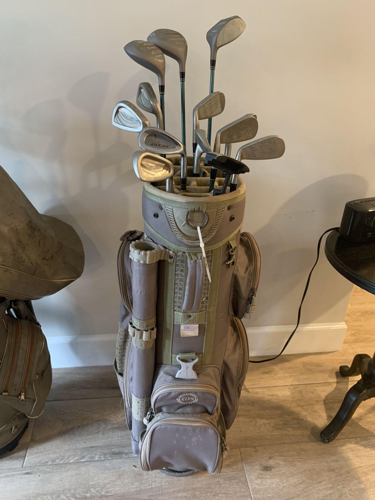 Full Set Of Golf Clubs & Golf Bag
