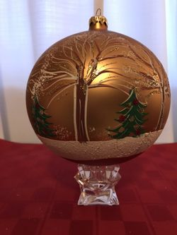 Giant Decorative Hand Made Christmas Ornament Trees and Snow Thumbnail
