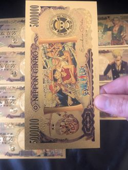 8x One Piece Anime Gold Foil Cards Thumbnail