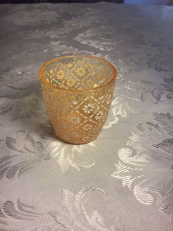 Large Cut Glass Votive Holders, Never Used Thumbnail