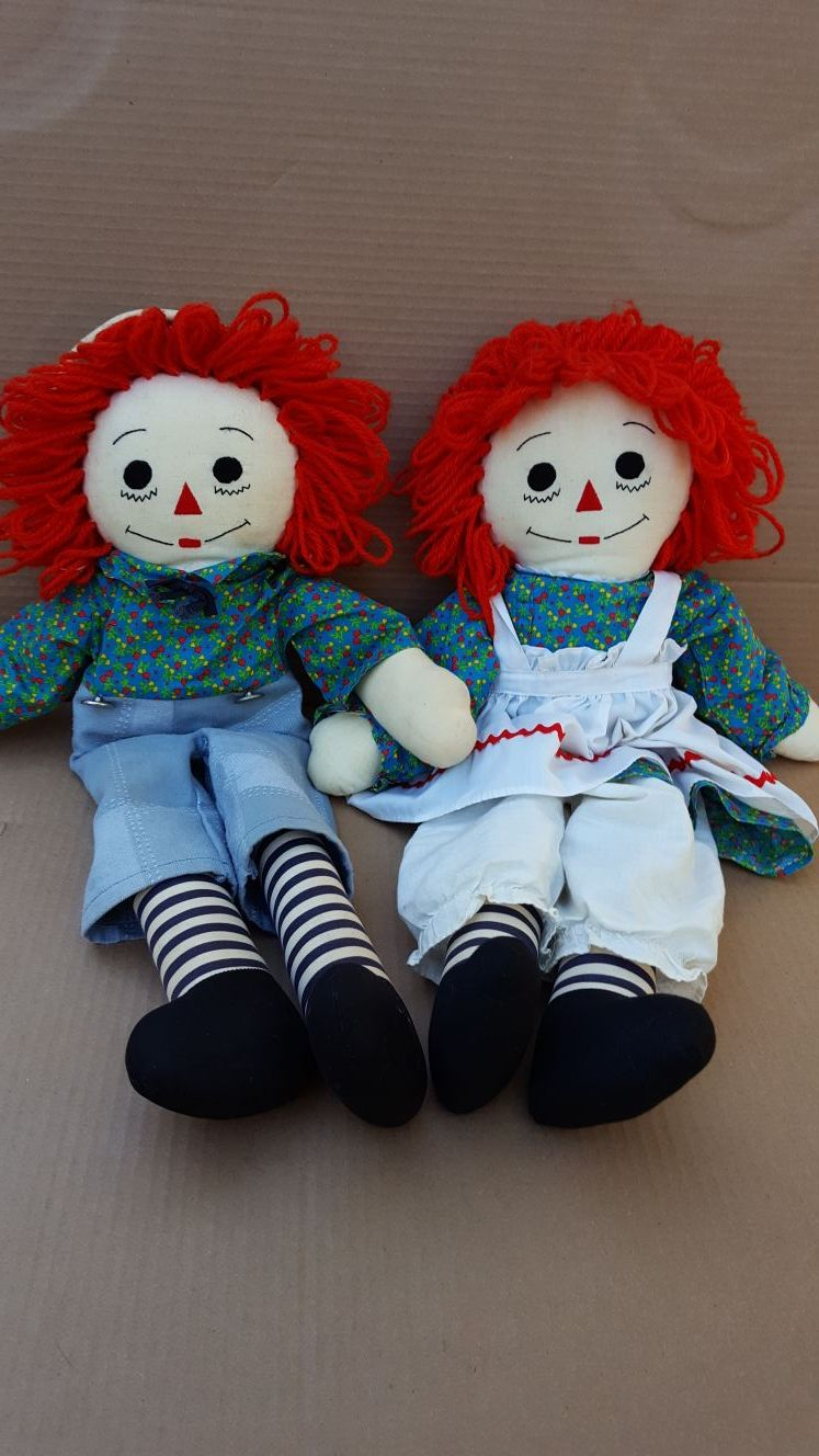 Raggedy Ann and Andy hand made dolls