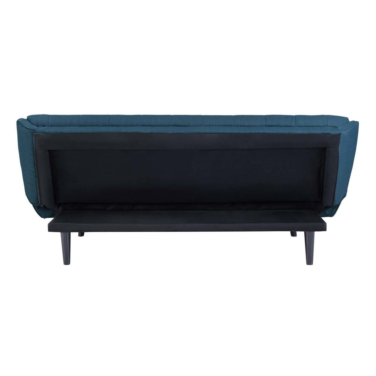 Glance Tufted Convertible Fabric Sofa Bed (3093-AZU)