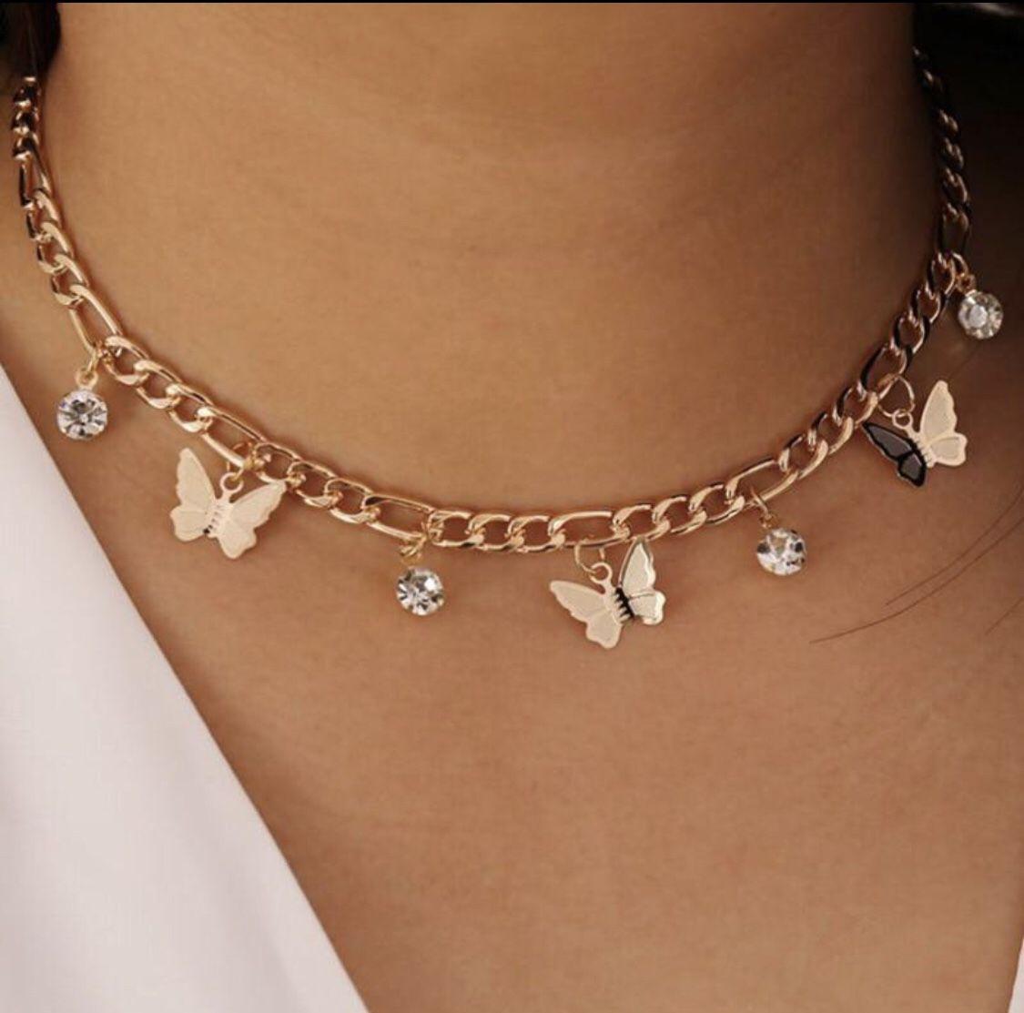Gold Butterfly Choker