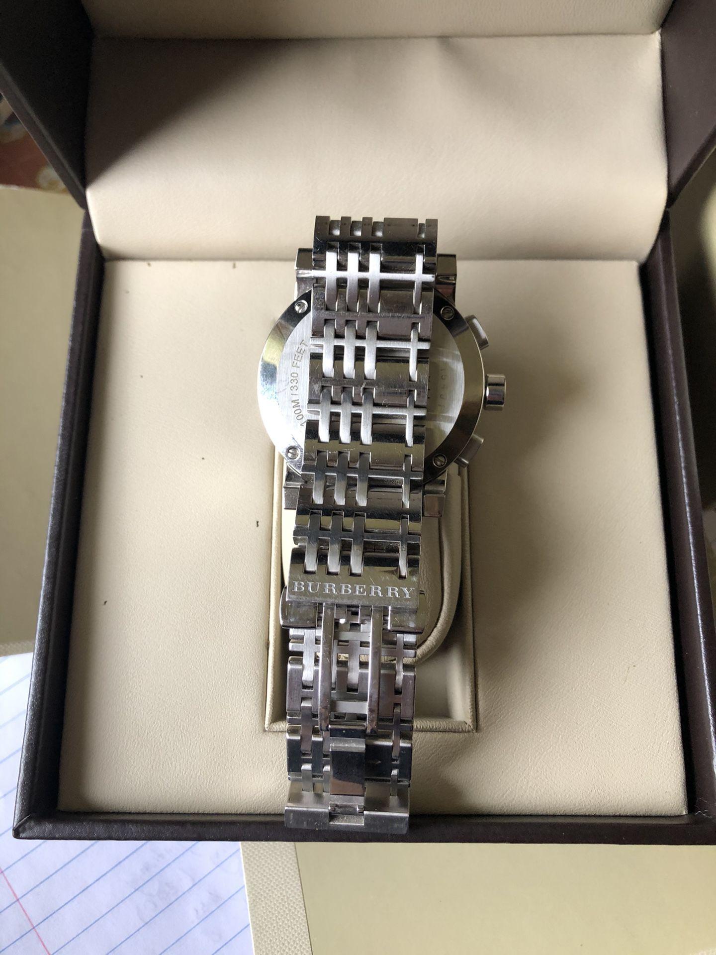 Burberry The City BU9363 Men's Watch - Silver