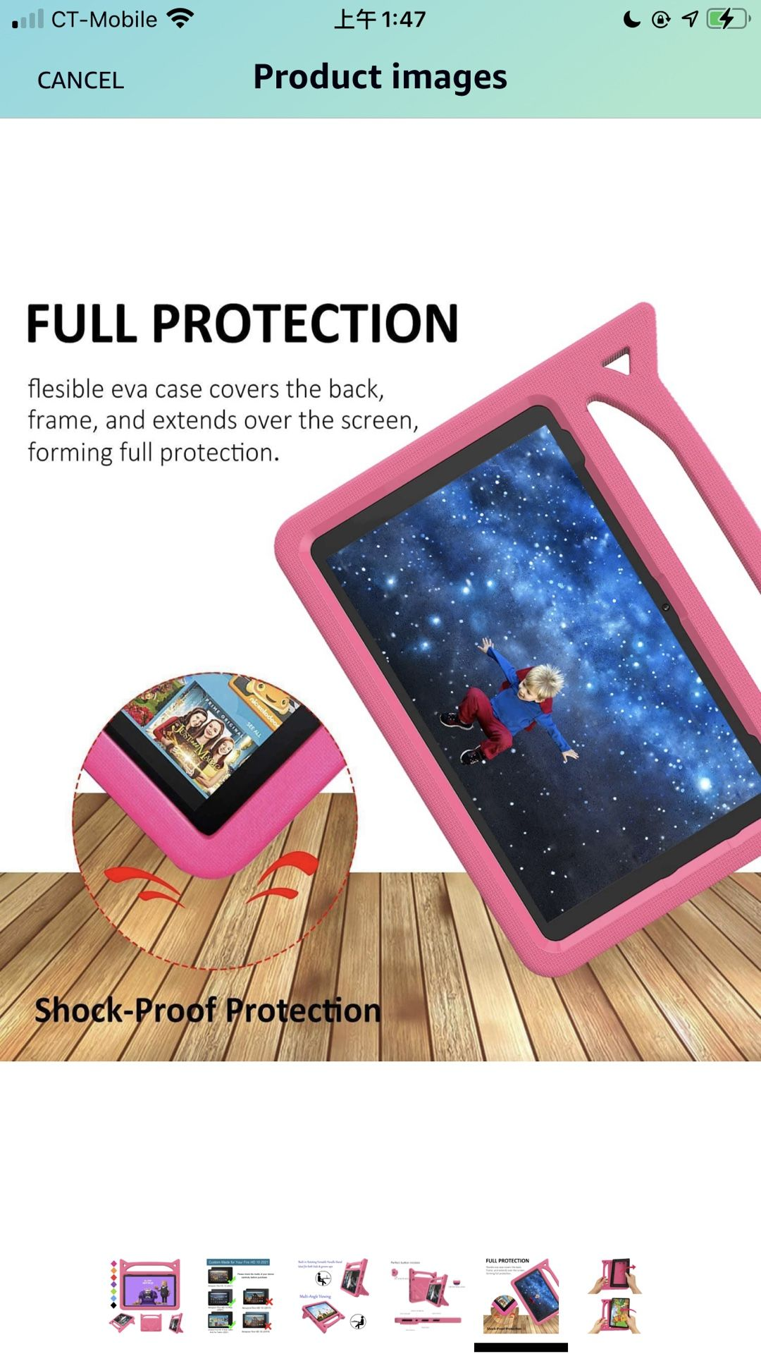 Fire HD 10 Case & Fire HD 10 Plus Kids Cases (11th Generation,2021 Release), BORXJNM Lightweight ShockProof Kid-Proof Cover with Stand for Amazon Kind