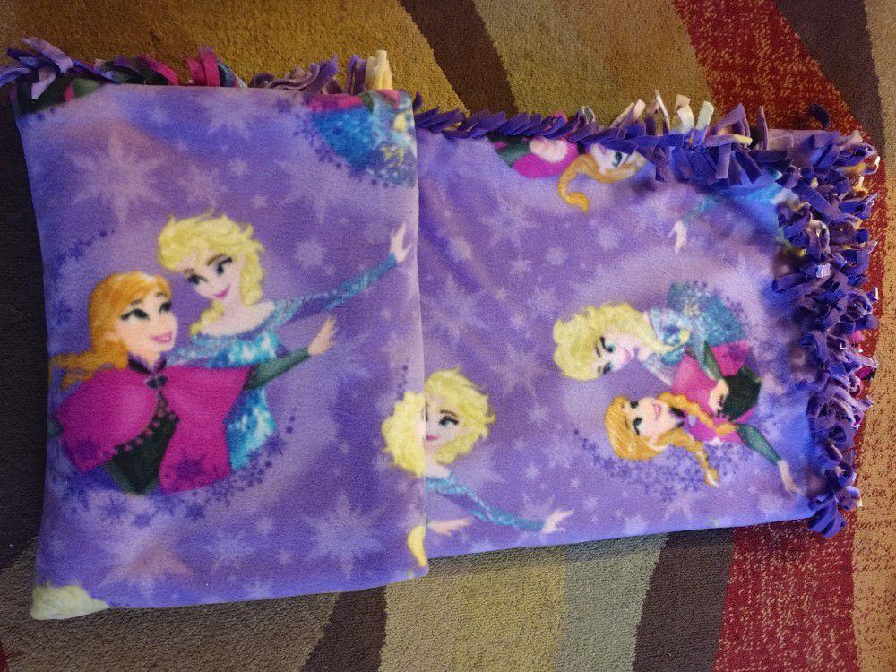 Frozen Double Sided Fleece Blanket Handmade New