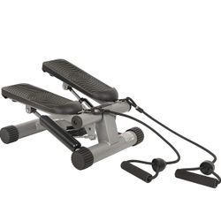 Like New Mini Stair Stepper With Resistance Bands  Thumbnail