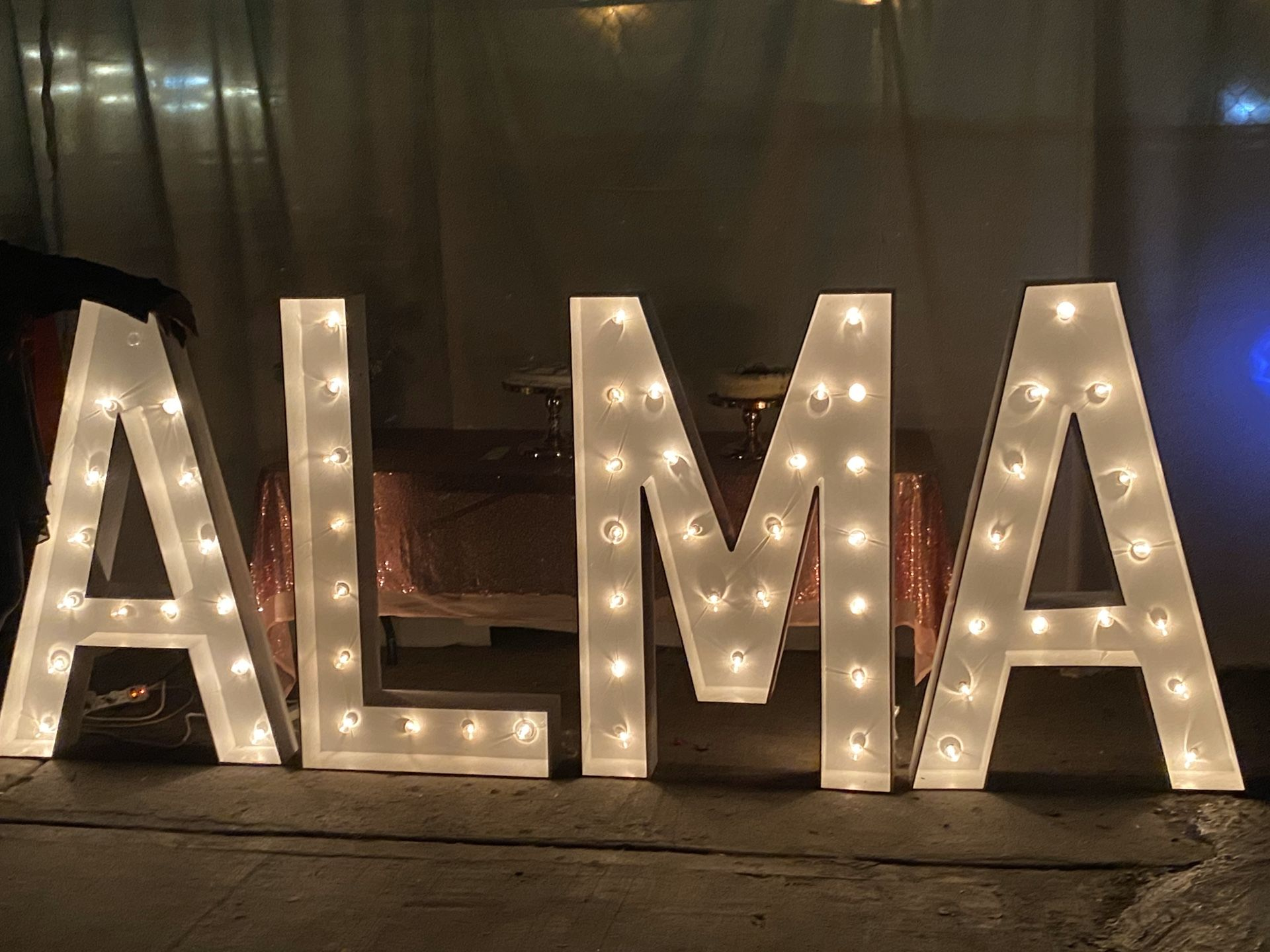 Party marquee letters 4 ft tall