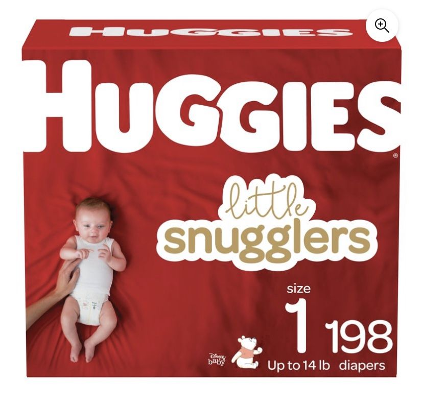 Size 1 Diapers 198 Count