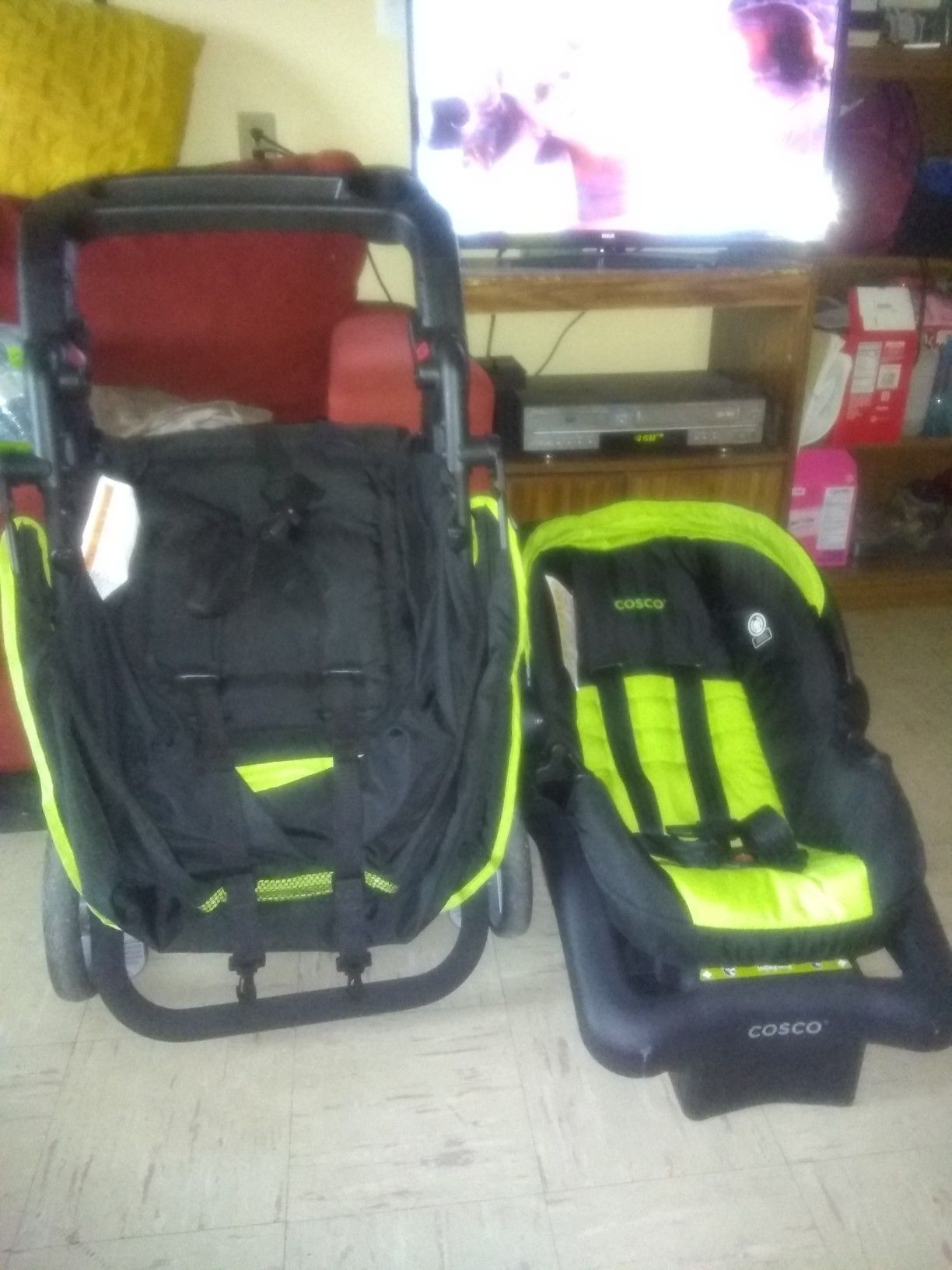 Stroller and car seat.have to go soon is like new have to go today