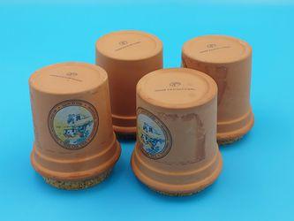 Val Do Sol Fine Quality Terracotta Crock Spice Jar w/cork lids Thumbnail