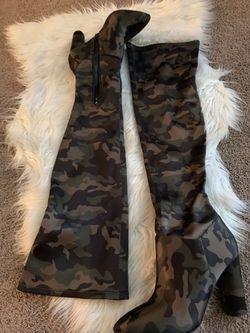 ALDO Army Fatigue High Boots (Size 8.5) Thumbnail
