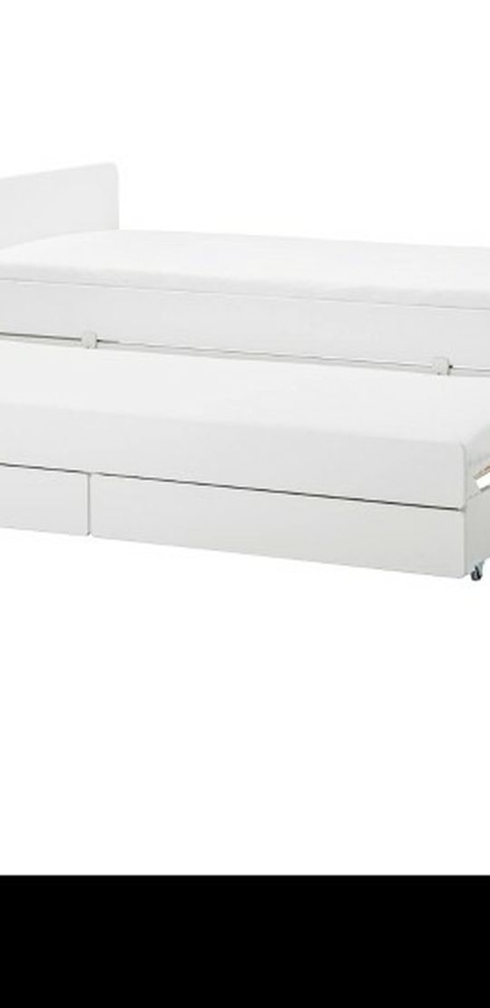 Ikea Trundle Twin Bed With 2 Storage