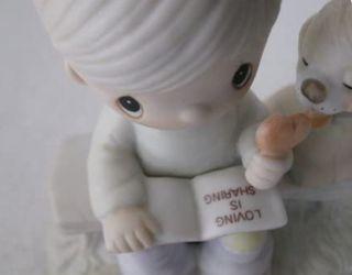Precious Moments Figurine - Loving Is Sharing - Boy #E-3110B   Thumbnail