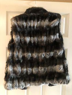 Jennifer Lopez fur vest size small Thumbnail