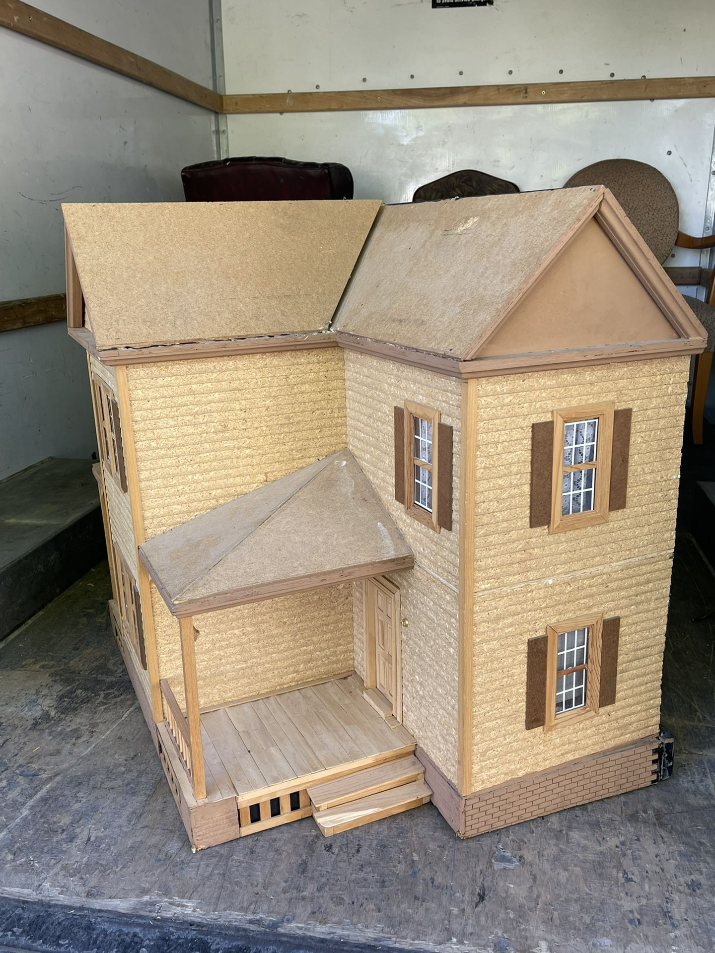 Vintage wooden dollhouse