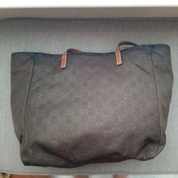Authentic Gucci GG Monogram Supreme Nylon Tote Bag  Thumbnail