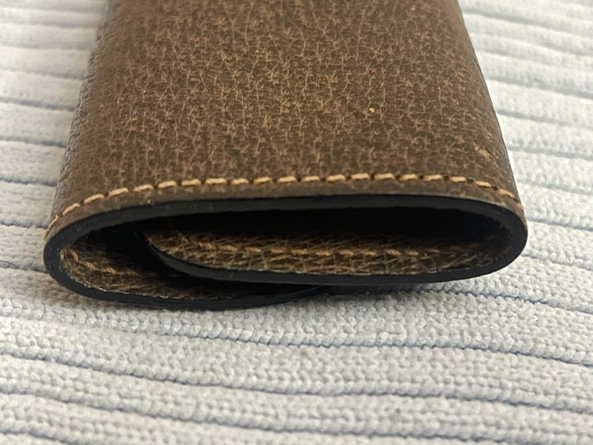 """Gucci """"GG Logo"""" 3 Key Leather Case VINTAGE/Perfect"""