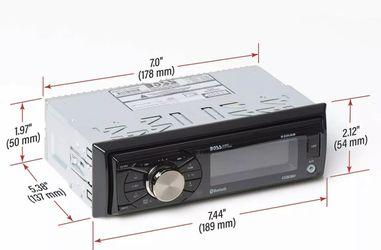 BOSS 632UAB Single 1 Din MP3 Bluetooth USB AUX AM/FM Car Stereo Detachable Face Thumbnail