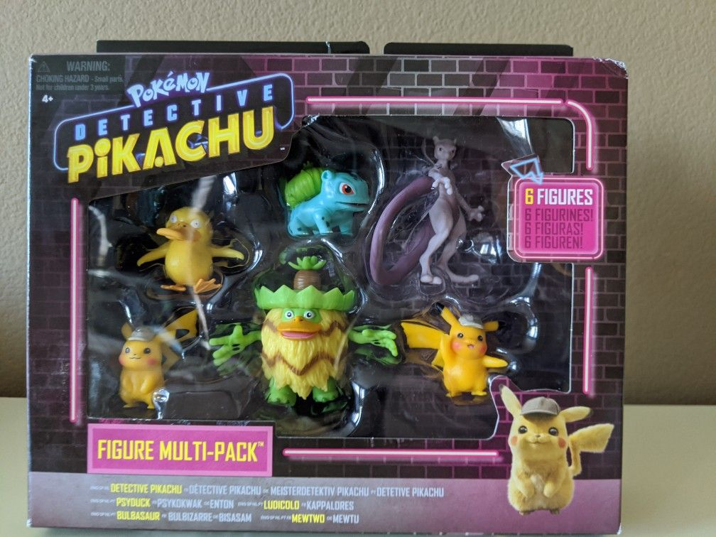 Pokemon toys - Pokemon figures - Pokemon Detective Pikachu set - poke balls - pokemon balls - brand new