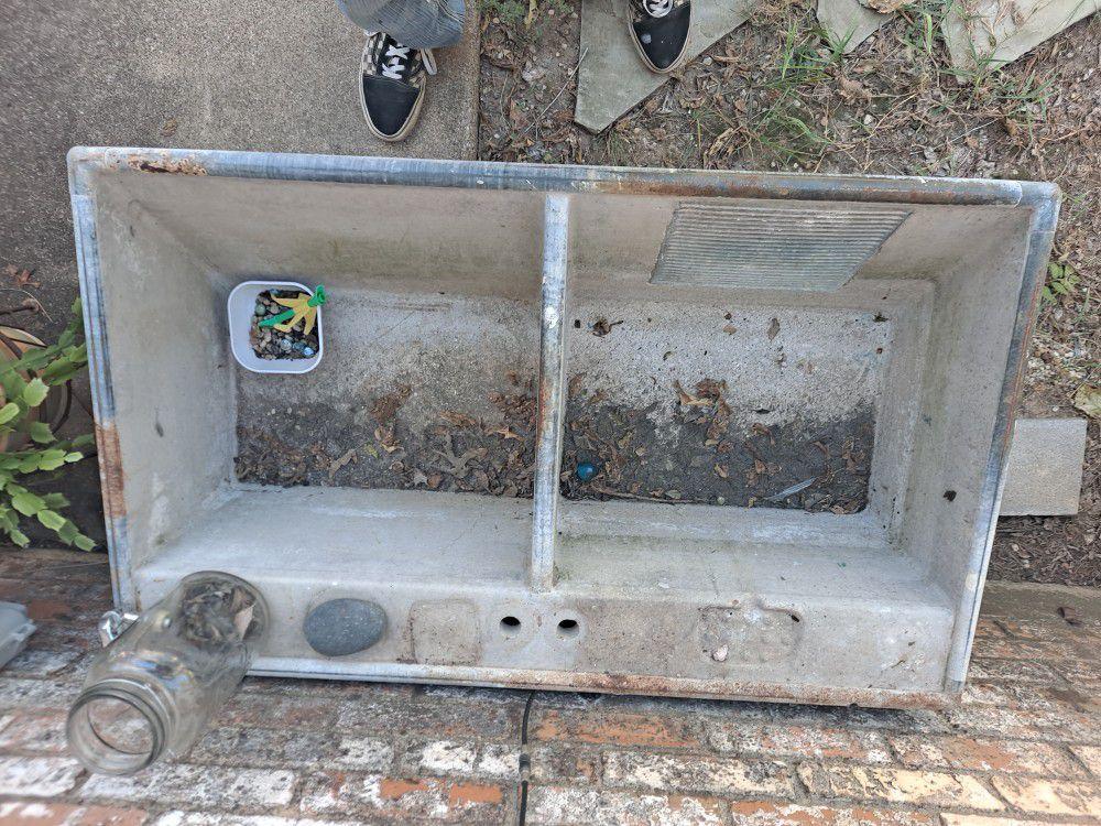 Antique Concrete Laundry Sink