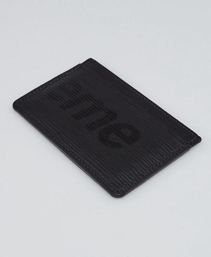 Louis Vuitton Limited Edition Black Epi Leather Supreme Card Holder