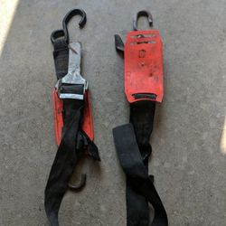 Adjustable Transom Tie Down Straps with Quick Release Buckle for Boat Trailer Thumbnail