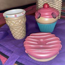 Cupcake Bathroom Accessories Set Thumbnail