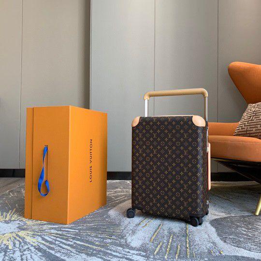 Louis Vuitton Horizon 50 55 Black Brown Monogram Damier Canvas Rolling Luggage Travel Lock Code Bag Duffle M23002 M23209