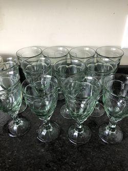 Light Green Sweet Swirl Iced Tea Goblets set of 12 by Noritake Thumbnail