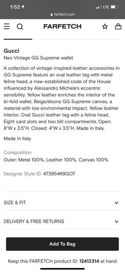Gucci Neo Vintage GG Supreme wallet Thumbnail