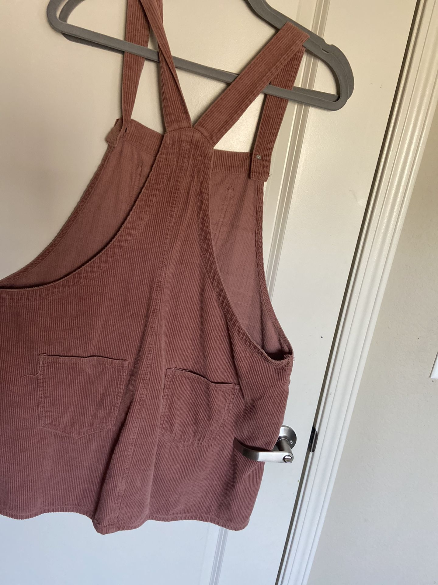 Cute nude pink coteroy overall dress