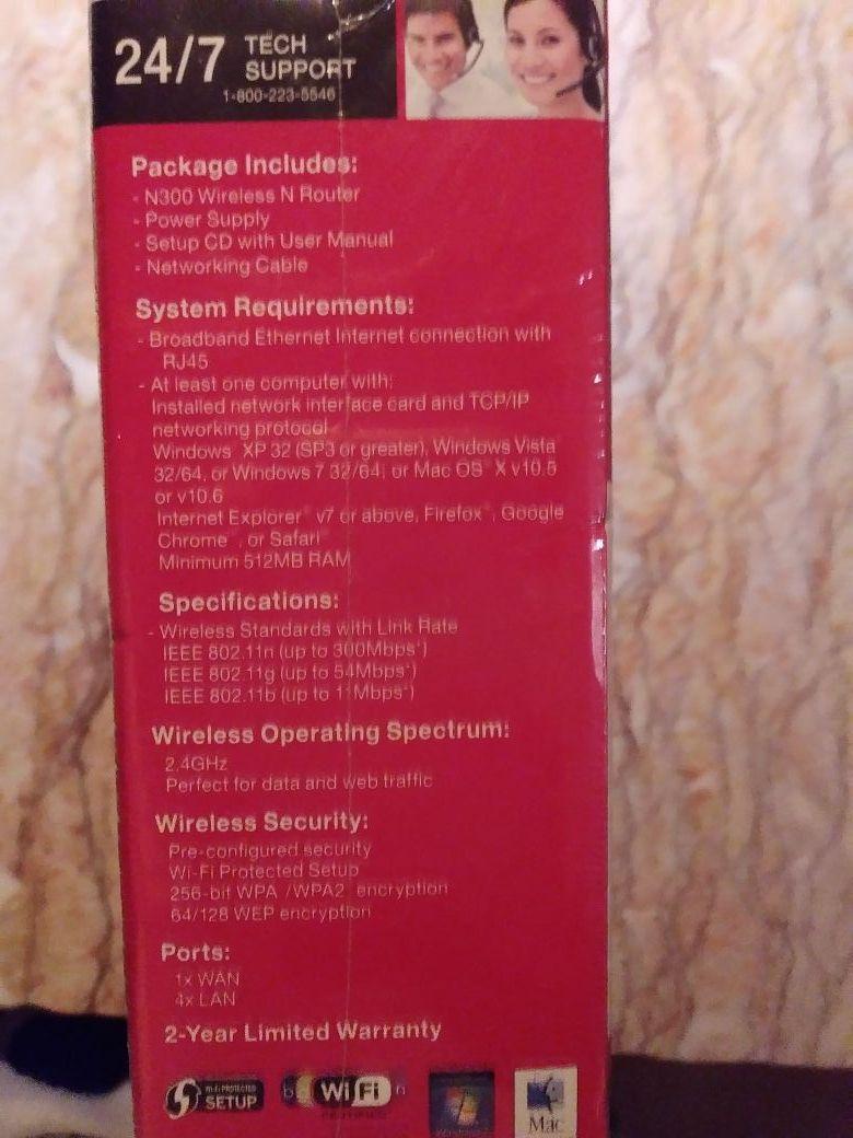 Belkin N300 wireless router