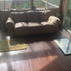 Leather Heavy Duty Couch And Love Seat  Thumbnail