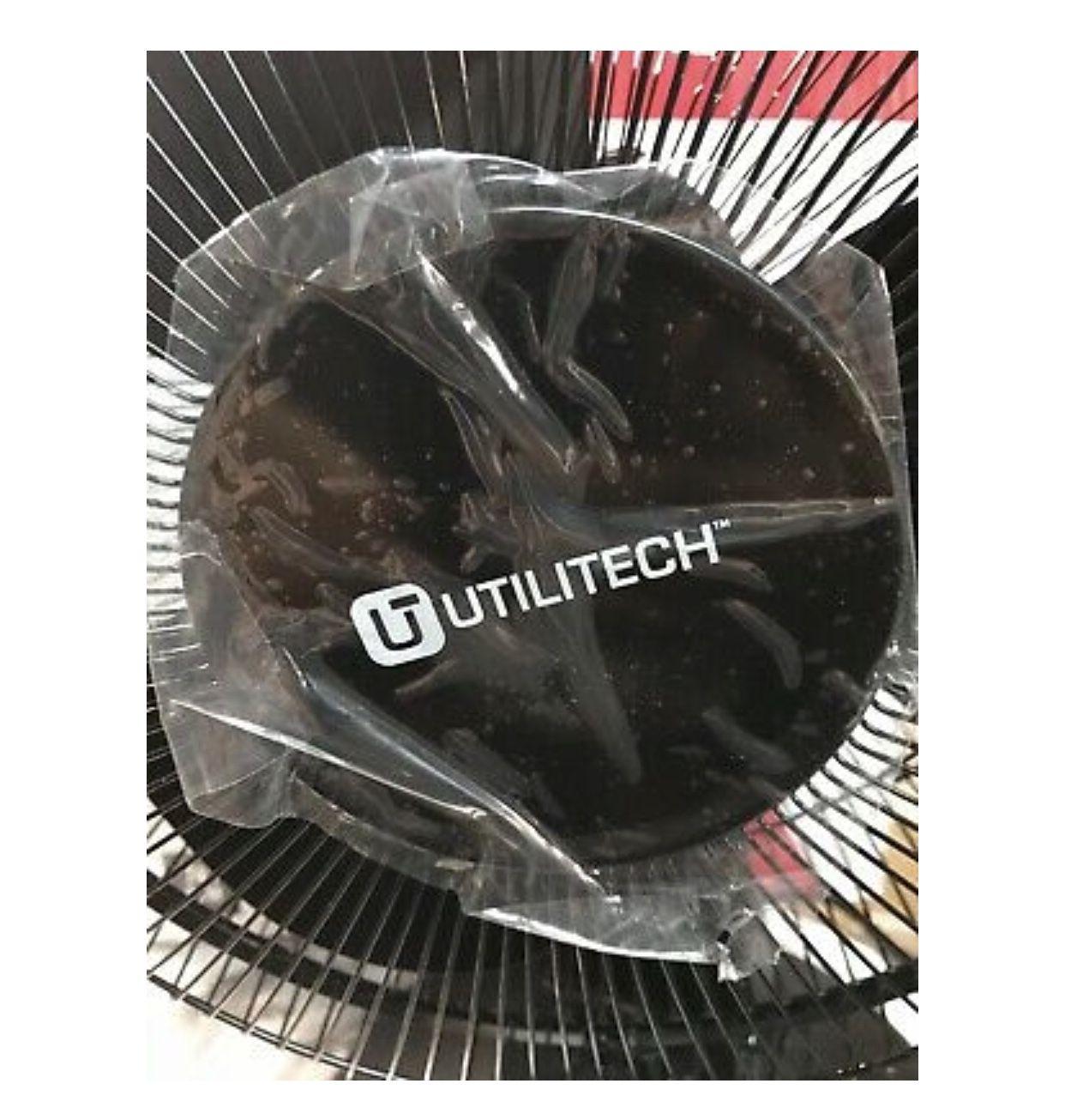 utilitec 12-Inch Three-Speed Oscillating Desk Fan New